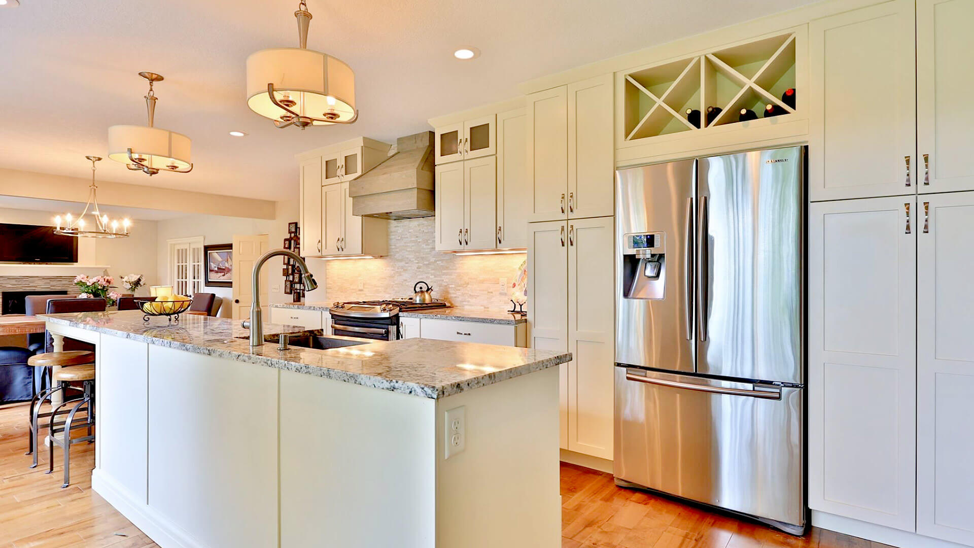 Twin Cities home kitchen remodel and main level remodel built by Red Pine Builders