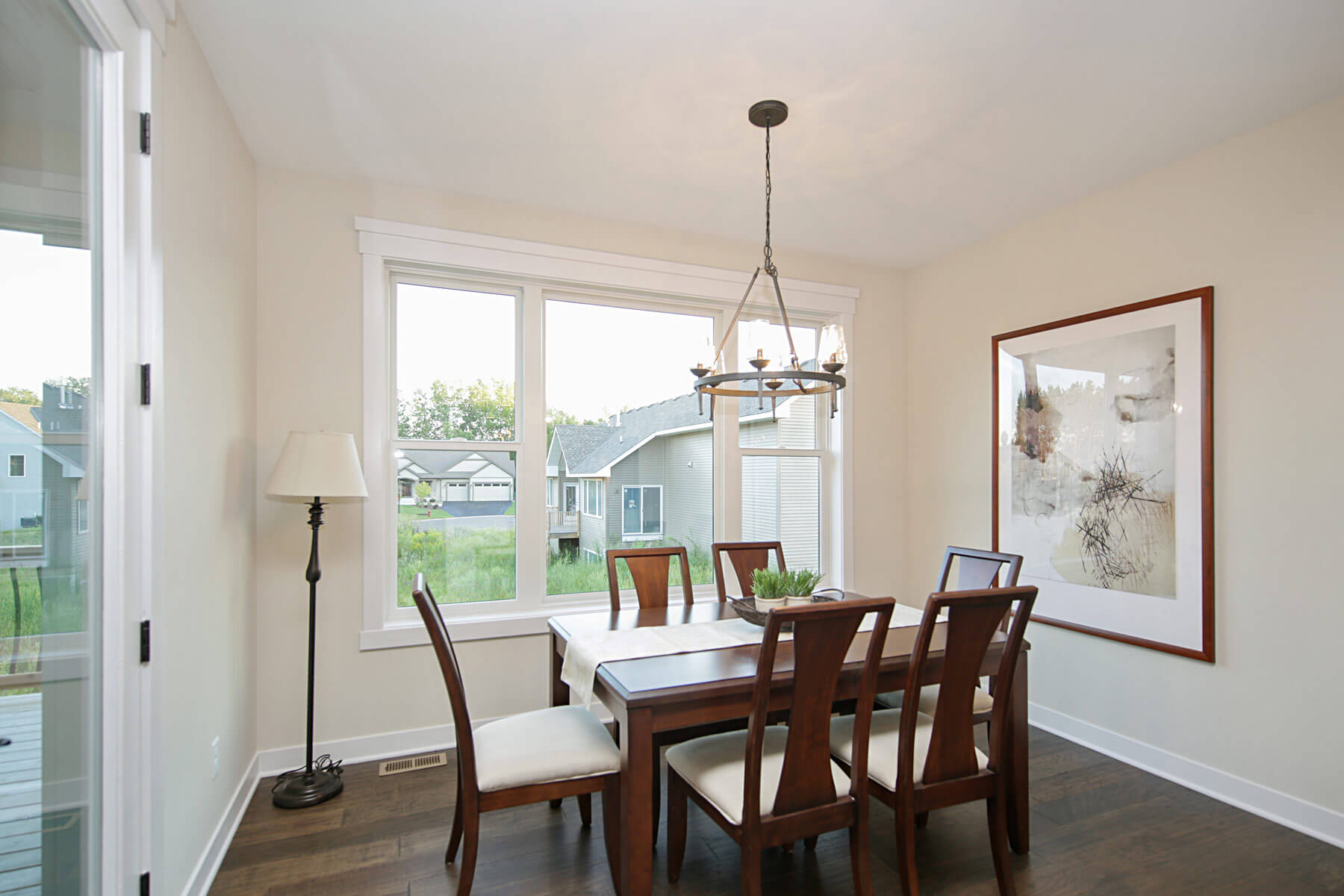 Twin Cities New Construction Monterey Court Home Stillwater Minnesota dining room area built by Red Pine Builders